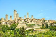 San Gimignano in Toscana, Italia Fotografie Stock Libere da Diritti