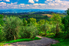 San Gimignano, Toscana, Italia Fotografie Stock Libere da Diritti