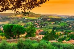 San Gimignano, Toscana, Italia Immagini Stock Libere da Diritti