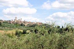 San Gimignano, Toscane, Italie Images stock