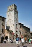 San Gimignano Toscanië Stock Afbeeldingen