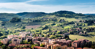 San Gimignano, Toscanië Stock Afbeeldingen