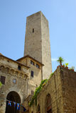 San Gimignano, Toscanië, Italië Stock Foto