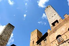 San Gimignano toscanië Italië Stock Afbeelding