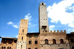 San Gimignano toscanië Italië Stock Foto's
