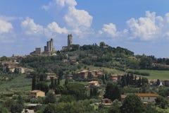 San Gimignano, Toscanië, Italië Royalty-vrije Stock Afbeelding