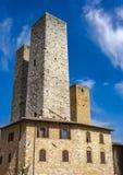 San Gimignano in Toskana, Italien stockfoto