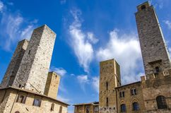 San Gimignano in Toskana, Italien stockbild