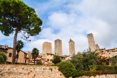 San Gimignano, Toskana, Italien Lizenzfreie Stockfotos