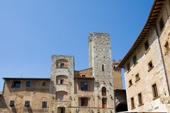 San Gimignano towers royalty free stock image