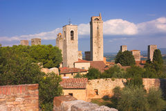 San Gimignano towers Royalty Free Stock Images