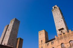 San Gimignano towers Stock Photos