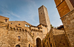 San Gimignano. Towers of San Gimignano.Famous town in Tuscany with many medieval high towers, Unesco World Heritage site stock image