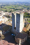 San Gimignano towers - Tuscan italy stock photos