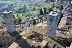 San Gimignano towers - Tuscan italy Royalty Free Stock Photo