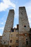 San Gimignano towers Stock Photos