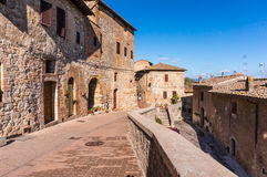 San Gimignano town. Ancient buildings in medieval town San Gimignano, Italy Royalty Free Stock Image