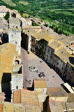 San Gimignano, town of beautiful towers, Tuscany royalty free stock photos