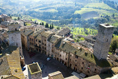 San Gimignano - Tuscan italy Royalty Free Stock Photography