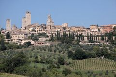 San Gimignano in Tuscany Stock Photo