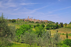 San Gimignano in Tuscany Stock Images