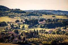 San Gimignano, Tuscany. The beautiful village of San Gimignano on the famous Tuscany hills Stock Photo