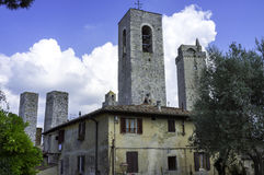 San Gimignano, Tuscany. Color image royalty free stock image