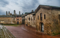San Gimignano, Tuscany. Detail of the small  but pitoresque medieval town San Gimignano in Tuscany, Italy Royalty Free Stock Images