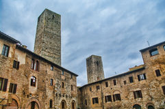 San Gimignano, Tuscany. Detail of the small  but pitoresque medieval town San Gimignano in Tuscany, Italy Stock Images