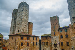 San Gimignano, Tuscany. Detail of the small  but pitoresque medieval town San Gimignano in Tuscany, Italy Stock Photography
