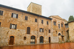San Gimignano, Tuscany. Detail of the small  but pitoresque medieval town San Gimignano in Tuscany, Italy Royalty Free Stock Photography