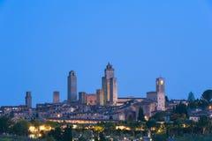 San Gimignano Tuscany at dusk Royalty Free Stock Photo