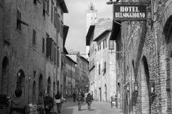 San Gimignano Tuscany Italien Arkivfoto
