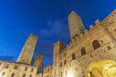 San Gimignano Tuscany, Italien, Europa royaltyfri foto