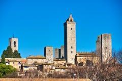 San gimignano,, Tuscany, Italy. Royalty Free Stock Photos