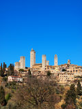 San Gimignano, Tuscany, Italy. Medieval town - famous italian landmark, photo was taken in February Royalty Free Stock Images