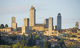 San Gimignano, Tuscany, Italy. The beautiful city of San Gimignano in the province of Siena, Tuscany in Italy. The towers date from the middle ages stock images