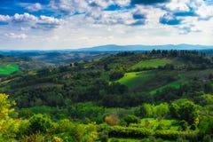 San Gimignano, Tuscany, Italy. Typical landscape of Tuscany in Italy Royalty Free Stock Photos