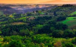 San Gimignano, Tuscany, Italy. Typical landscape of Tuscany in Italy Stock Photo