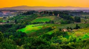 San Gimignano, Tuscany, Italy. Typical landscape of Tuscany in Italy Stock Photos