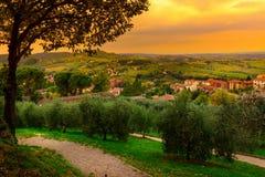 San Gimignano, Tuscany, Italy. Typical landscape of Tuscany in Italy Royalty Free Stock Photography