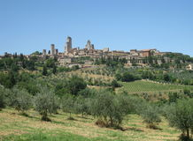 San Gimignano, Tuscany, Italy stock photos