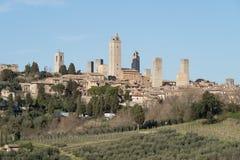 San Gimignano, Tuscany, Italy stock photography
