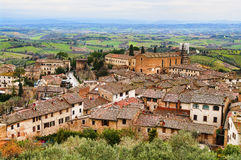 San Gimignano, Tuscany. The small but pitoresque medieval town San Gimignano in Tuscany, Italy Stock Photos