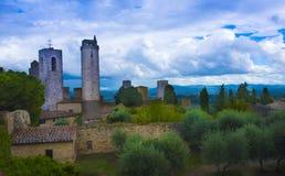 San Gimignano_ Tuscany, Włochy zdjęcia stock