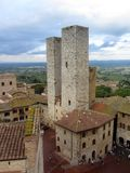 San Gimignano Twin Towers Stock Photos