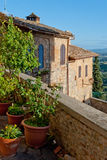 San Gimignano, typical house, Tuscany Royalty Free Stock Photos