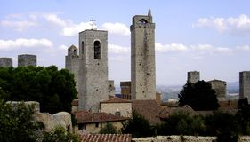San Gimignano, une vue panoramique de la ville San Gimignano, Italie photos libres de droits
