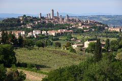 San Gimignano. View on the medieval town of San Gimignano in Tuscany, Italy royalty free stock image