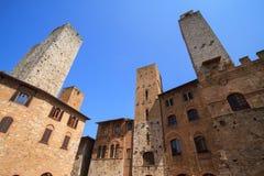 San Gimignano, villaggio medievale famoso come la città della torre fine Immagine Stock